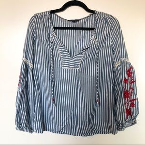 Tommy Hilfiger Embroidered Long Sleeve Top
